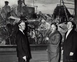 Sir Charles Thomas Wheeler; Stephen S. Churakov; Vladislav Mstislavovich ('V.M') Zimenko, by Ida Kar - NPG x132115