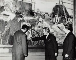 Sir Charles Thomas Wheeler; Stephen S. Churakov; Vladislav Mstislavovich ('V.M') Zimenko, by Ida Kar - NPG x132116