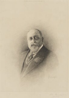 King Edward VII, by L.T. Johnson, published by  Henry Graves & Co - NPG D33849