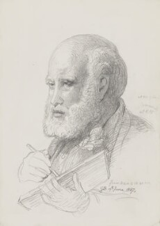 Sir George Scharf, by Sir George Scharf - NPG 4053(2)