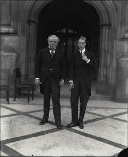 David Lloyd George; Prince Edward, Duke of Windsor (King Edward VIII), by Vandyk - NPG x32185
