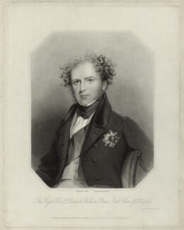 Richard William Penn Curzon, 1st Earl Howe, by Richard Austin Artlett, after  George Raphael Ward - NPG D33932