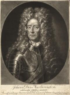 John Churchill, 1st Duke of Marlborough, by Pieter Schenck, after  Adriaen van der Werff - NPG D9329