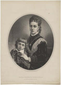 Prince Albert Victor, Duke of Clarence and Avondale; Queen Alexandra, by and published by Maclure & Macdonald - NPG D33938