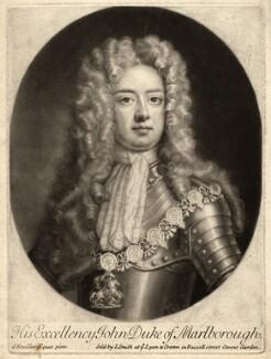John Churchill, 1st Duke of Marlborough, by John Smith, after  Sir Godfrey Kneller, Bt - NPG D9330