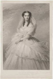 Queen Alexandra, by Samuel Cousins, published by  Paul and Dominic Colnaghi, Scott & Co, after  Richard Lauchert - NPG D33947