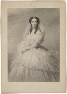 Queen Alexandra, by Samuel Cousins, published by  Paul and Dominic Colnaghi, Scott & Co, after  Richard Lauchert - NPG D33948