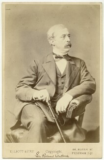 Sir Richard Wallace, 1st Bt, by Elliott & Fry, late 1870s-1880s - NPG x20099 - © National Portrait Gallery, London