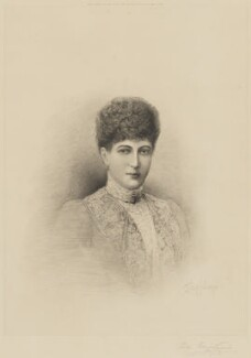 Queen Alexandra, by L.T. Johnson, published by  Henry Graves & Co - NPG D33952