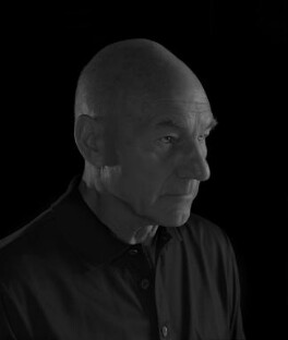 Sir Patrick Stewart, by Nadav Kander, September 2008 - NPG x132236 - © Nadav Kander; courtesy Flowers Galleries