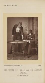 Herbert Waring as Sir Brice Skene; Sir George Alexander as David Remon in 'The Masqueraders', by Alfred Ellis, published 1 July 1894 - NPG Ax28859 - © National Portrait Gallery, London