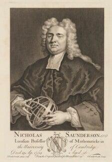 Nicholas Saunderson, by Gerard Vandergucht, after  John Vanderbank - NPG D33974