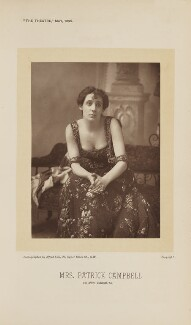 Mrs Patrick Campbell as Mrs Agnes Ebbsmith in 'The Notorious Mrs Ebbsmith', by Alfred Ellis, published 1 May 1895 - NPG Ax28879 - © National Portrait Gallery, London
