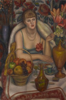 Natalie Bevan (née Ackenhausen, later Denny) ('Supper (Natalie Denny)'), by Mark Gertler, 1928 - NPG  - © National Portrait Gallery, London