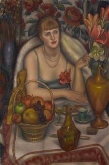 Natalie Bevan (née Ackenhausen, later Denny) ('Supper (Natalie Denny)'), by Mark Gertler, 1928 - NPG  - © National Portrait Gallery, London