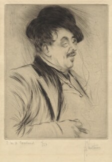 Thomas William Hodgson Crosland, by Richard George Mathews - NPG D34579