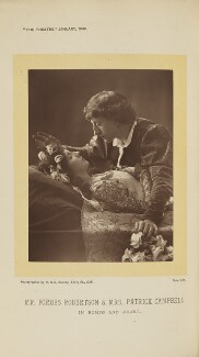 Beatrice Stella Campbell as Juliet; Sir Johnston Forbes-Robertson as Romeo in 'Romeo and Juliet', by W. & D. Downey, 1895, published 1 January 1896 - NPG  - © National Portrait Gallery, London
