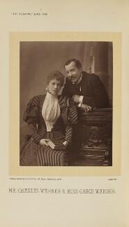 Grace Warner (Mrs Franklin McLeay); Charles Warner (Charles John Lickfold), by Alfred Ellis - NPG Ax28893