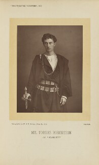 Sir Johnston Forbes-Robertson as Hamlet in 'Hamlet', by W. & D. Downey, published by  Simpkin, Marshall, Hamilton, Kent & Co - NPG Ax28902