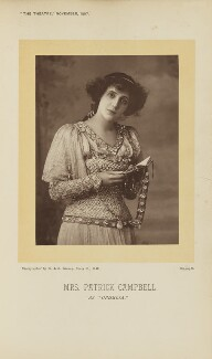 Mrs Patrick Campbell as Ophelia in 'Hamlet', by W. & D. Downey, published by  Simpkin, Marshall, Hamilton, Kent & Co, published 1 November 1897 - NPG Ax28903 - © National Portrait Gallery, London