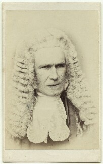 William Page Wood, Baron Hatherley, by John Watkins, published by  Samuel E. Poulton - NPG x27541