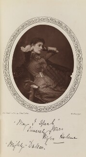 Myra Holme (Myra Emily (née Moore), Lady Pinero) as Clara Dart in 'The Mighty Dollar', by Lock & Whitfield, published by  Charles Dickens & Evans - NPG Ax35612