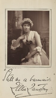 Lillie Langtry as Miss Hardcastle in 'She Stoops to Conquer', by London Stereoscopic & Photographic Company, published by  Charles Dickens & Evans - NPG Ax35618