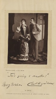 Mary Rorke as Angelica Porter; Sir Charles Wyndham (Charles Culverwell) as Peregrine Porter in 'Fourteen Days', by Brown, Barnes & Bell, published by  Charles Dickens & Evans - NPG Ax35623