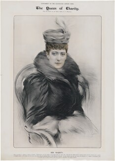 Queen Alexandra, published by Illustrated London News, after  George C. Wilmshurst - NPG D33954