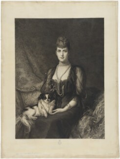 Queen Alexandra, by Frédéric Auguste La Guillermie, published by  Thomas Agnew & Sons Ltd, after  Luke Fildes - NPG D33956