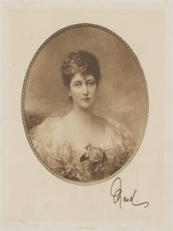 Maud, Queen of Norway, by Frederick John Jenkins, after  Edward Hughes - NPG D33982