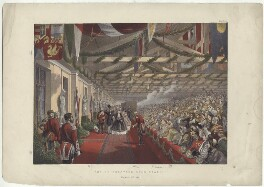 'The Bricklayer's Arms Station, March 7th 1863' (including King Edward VII; Queen Alexandra), by Robert Charles Dudley - NPG D33985