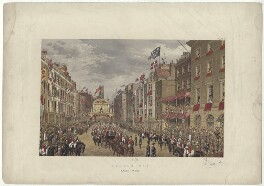 'Temple Bar, March 7th 1863' (including King Edward VII; Queen Alexandra), by Robert Charles Dudley - NPG D33989