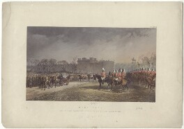 'Hyde Park, March 7th 1863' (including Alexandra of Denmark), by Robert Charles Dudley - NPG D33992