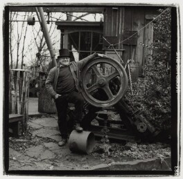 Fred Dibnah, by Paul Wolfgang Webster, 1996 - NPG  - © Paul Wolfgang Webster / National Portrait Gallery, London