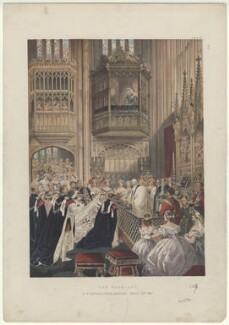 'The Marriage, in St George's Chapel, Windsor, March 10th 1863' (including King Edward VII; Queen Alexandra), by Robert Charles Dudley, published 1864 - NPG  - © National Portrait Gallery, London