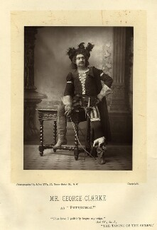 George H. Clarke as Petruchio in 'The Taming of the Shrew', by Alfred Ellis, published September 1893 - NPG  - © National Portrait Gallery, London