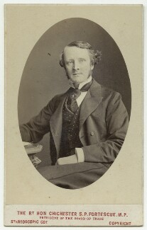 Chichester Samuel Parkinson-Fortescue, Baron Carlingford and 2nd Baron Clermont, by London Stereoscopic & Photographic Company - NPG x132248