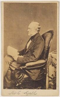 Sir Charles Lyell, 1st Bt, by Hills & Saunders - NPG x132256