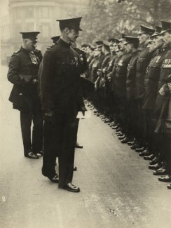 Bertram Park reviewing the Special Constabulary, by Barratt's Photo Press Ltd - NPG x5608