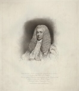 Charles Abbot, 1st Baron Colchester, by Charles Picart, published by  T. Cadell & W. Davies, after  John Jackson, after  James Northcote - NPG D34008