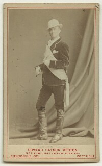 Edward Payson Weston, by Eliza Hawkins, printed and published by  London Stereoscopic & Photographic Company - NPG x132263