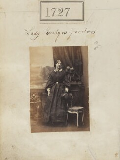 Evelyn Elizabeth (née Gordon), Countess of Ancaster, by Camille Silvy - NPG Ax51118