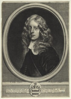 Sir Samuel Morland, 1st Bt, by Pierre Lombart, after  Sir Peter Lely - NPG D34013