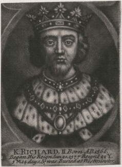 King Richard II, by John Carwitham, after  Unknown artist - NPG D33902