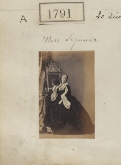 Augusta Emily (née Seymour), Lady Delamere, by Camille Silvy - NPG Ax51182