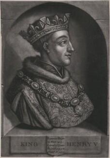 King Henry V, by John Faber Jr, after  Unknown artist, circa 1731 - NPG D33911 - © National Portrait Gallery, London