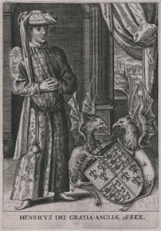 Fictitious portrait of King Henry VI, by Domenicus Custos (De Coster), published 1600 - NPG D33917 - © National Portrait Gallery, London