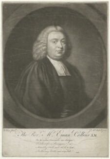 Emanuel Collins, by James Macardell, after  Nathaniel Hone - NPG D34039
