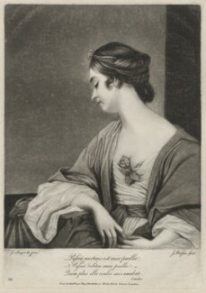Christiana Collier (née Gwyn), by James Watson, after  Sir Joshua Reynolds - NPG D34044